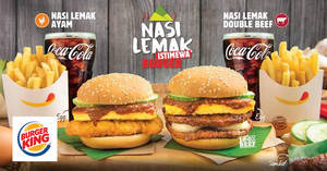 Featured image for Burger King launches NEW Nasi Lemak Istimewa Burger! From 29 Sep 2017