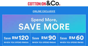 Featured image for Cotton On: RM60 to RM120 OFF ALL brands (inc Rubi, Typo, etc) online sale! From 28 – 29 Sep 2017