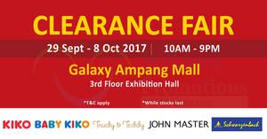 Featured image for KIKO & Baby KIKO Clearance Fair at Galaxy Ampang Mall! From 29 Sep – 8 Oct 2017