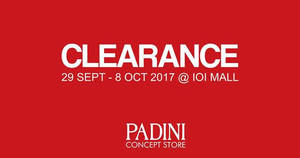 Featured image for Padini Concept Store clearance sale at IOI Mall Puchong! From 29 Sep – 8 Oct 2017