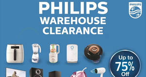 Featured image for Philips up to 75% OFF warehouse sale is back! From 6 – 8 Oct 2017