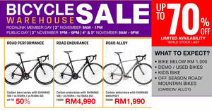 Featured image for Lerun Industries up to 70% OFF bicycle warehouse sale! From 3 – 5 Nov 2017