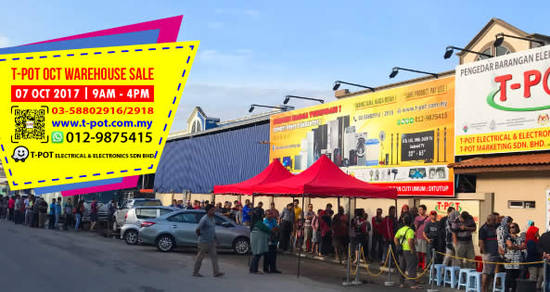 Featured image for T-Pot warehouse sale at Shah Alam on 7 Oct 2017