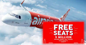 Featured image for AirAsia's FREE Seats is back – over 5 million promo seats! Book by 11 Mar 2018