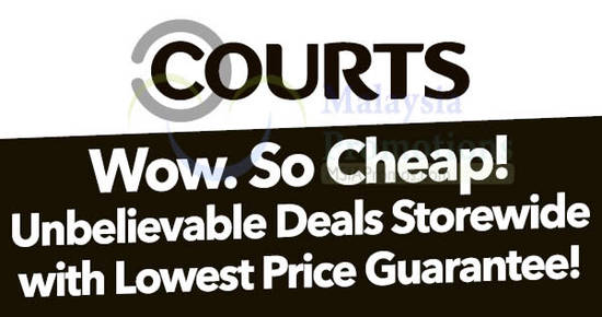 Featured image for Courts: Unbelievable deals storewide with lowest price guarantee! From 18 - 19 Nov 2017