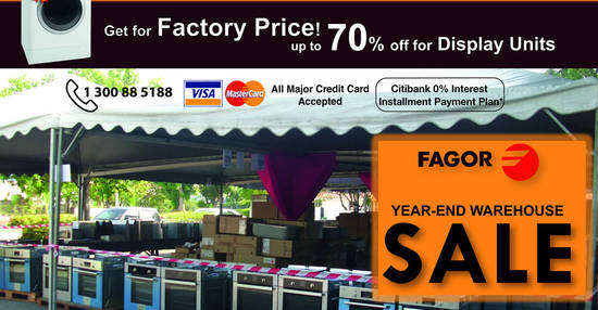 Featured image for Fagor home appliances warehouse sale at Shah Alam from 8 - 10 Dec 2017