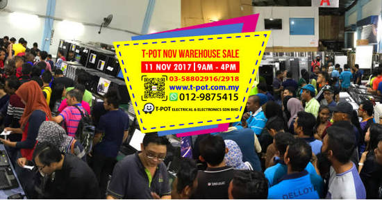 TPot warehouse sale feat 6 Nov 2017