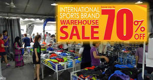 Featured image for World of Sports up to 70% OFF warehouse sale! From 9 – 12 Nov 2017