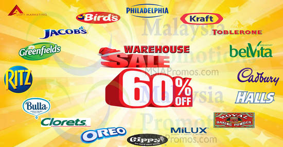 Featured image for Aloft Marketing: Up to 60% OFF warehouse sale - Kraft, Oreo, Cadbury & more! From 21 - 23 Dec 2017
