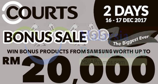 Courts Bonus Sale feat 16 Dec 2017