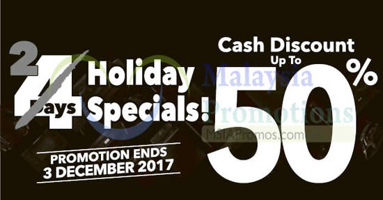 Featured image for Courts: Holiday Sale - Cash discount up to 50% OFF! From 2 - 3 Dec 2017