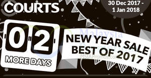 Featured image for Courts: New Year Sale – Best of 2017! From 30 Dec 2017 – 1 Jan 2018