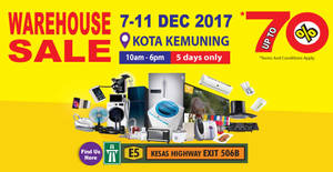 Featured image for HLK up to 70% off warehouse sale at Kota Kemuning Shah Alam from 7 – 11 Dec 2017