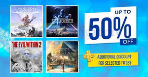 Featured image for PlayStation: Up to 50% OFF Holiday sale now on till 8 Jan 2018