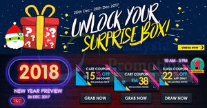 Featured image for Qoo10: Grab free 15% and RM38 cart coupons! Ends 26 Dec 2017