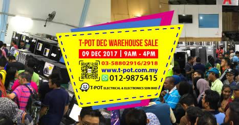 TPot warehouse sale 6 Dec 2017