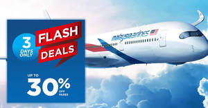 Featured image for Malaysia Airlines 3-day FLASH sale – up to 30% OFF fares! Book by 29 Jan 2018