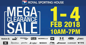 Featured image for Royal Sporting House: Warehouse sale is BACK – prices start from RM5! From 1 – 4 Feb 2018