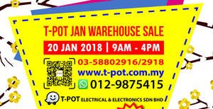 T-Pot warehouse sale at Shah Alam on 20 Jan 2018