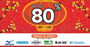 Featured image for World Of Sports up to 80% CNY sale at Sri Petaling Hotel! From 25 Jan – 11 Feb 2018