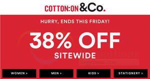 Featured image for Cotton On: 38% OFF reg-priced items of ALL brands (inc Body, Rubi, Typo, etc)! From 15 – 16 Feb 2018