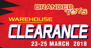 Litt Tak branded toys warehouse clearance at Kuala Lumpur from 23 – 25 Mar 2018