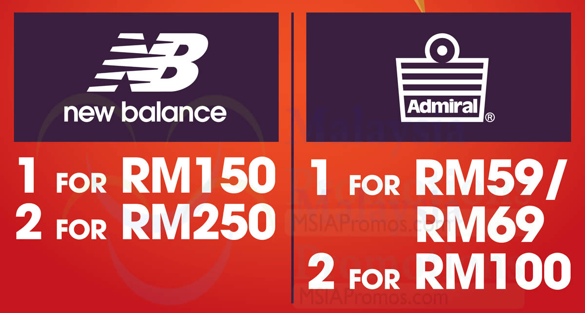 New Balance & Admiral clearance sale at Sogo KL! From 29 Mar