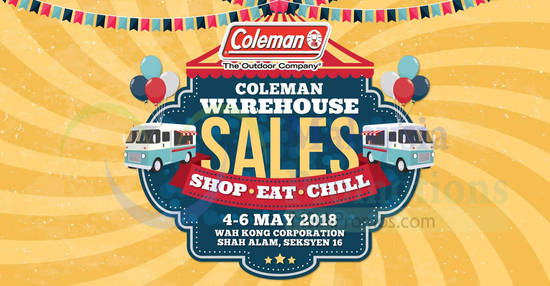Featured image for Coleman Warehouse Sale at Shah Alam! From 4 - 6 May 2018