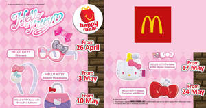 Featured image for McDonald's: FREE Hello Kitty accessory with every Happy Meal purchase! Ends 30 May 2018