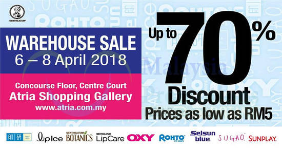 Mentholatum Warehouse Sale 3 Apr 2018