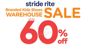 Featured image for Stride Rite: Up to 60% OFF warehouse sale at Pearl Point from 27 – 29 Apr 2018