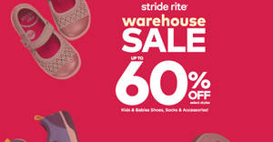 Featured image for Stride Rite: Up to 60% OFF warehouse sale at Summit Subang USJ from 11 – 15 Apr 2018