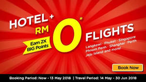 Featured image for Air Asia Go: Fly FREE when booked together with hotel! Book by 13 May 2018
