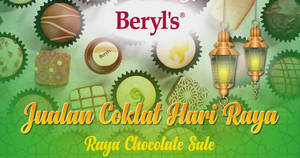 Featured image for Beryl's chocolate sale at Selangor from 25 May – 13 Jun 2018