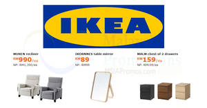 Featured image for IKEA: Enjoy savings of up to RM400 on selected items! Offers valid from 7 May – 3 Jun 2018