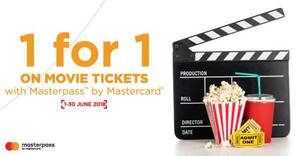 Featured image for TGV Cinemas: 1-for-1 movie ticket with Masterpass by Mastercard! From 1 – 30 Jun 2018