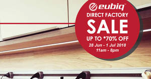 Featured image for Eubiq up to 70% clearance sale from 28 Jun – 1 Jul 2018