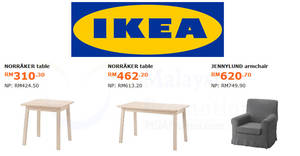 Featured image for IKEA: Save up to RM150 on selected items! Offers valid from 4 Jun – 1 Jul 2018