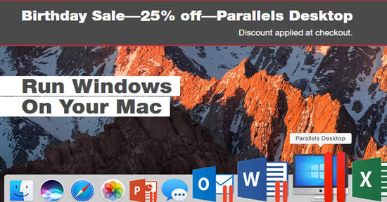 Featured image for Save 25% off Parallels Desktop 13 for Mac! Ends 27 Jun 2018