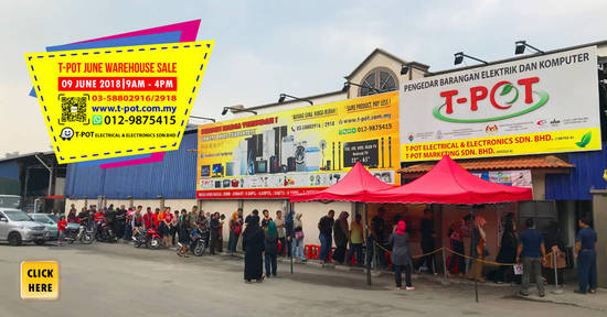 Featured image for T-Pot warehouse sale at Shah Alam on 9 Jun 2018