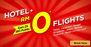 Featured image for Air Asia Go: Fly FREE when booked together with hotel! Book by 8 Jul 2018