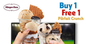 Häagen-Dazs: Buy 1 Get 1 FREE Parfait Crunch promotion at ALL outlets from 22 – 26 April 2019