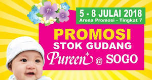 Featured image for Pureen Warehouse Stock Promotion at SOGO from 5 – 8 Jul 2018