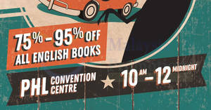 Big Bad Wolf Books: Up to 95% off books sale at Ipoh from 14 – 23 Sep 2018