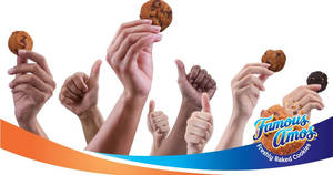 Featured image for Famous Amos: Free extra 50% more cookies promotion till 31 Aug 2018