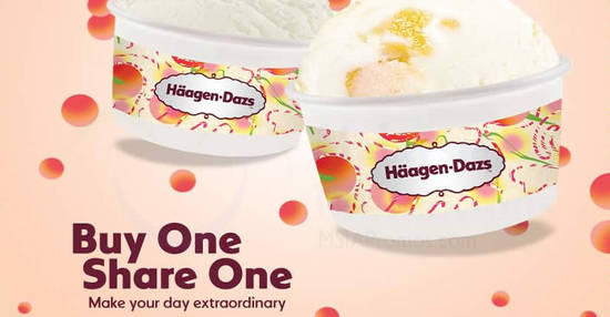 Featured image for Haagen-Dazs: Buy one scoop of Plain Frozen Yogurt & get another scoop of any flavour free at ALL outlets! From 13 - 17 Aug 2018