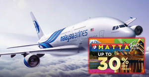 Featured image for Malaysia Airlines 2018 MATTA Fair online promo fares valid till 12 Sep 2018