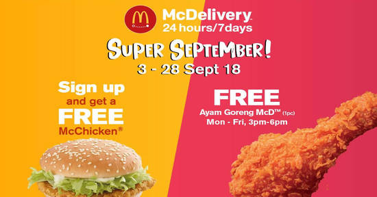 McDelivery Super September feat 3 Sep 2018