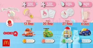 McDonald's NEW My Melody & ChoroQ Happy Meal Toys till 10 Oct 2018