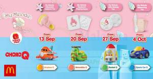 McDonald's NEW My Melody & ChoroQ Happy Meal Toys till 10 Oct 2018